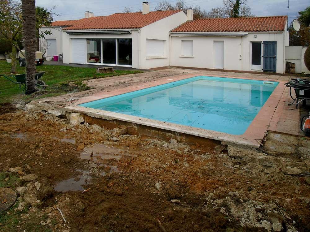 Terrasse de piscine la roche sur yon 2 adn cr ation - Piscine de la roche sur yon ...